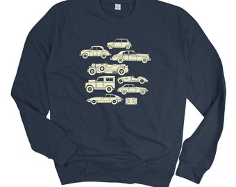Men's British Classic Cars Sweatshirt