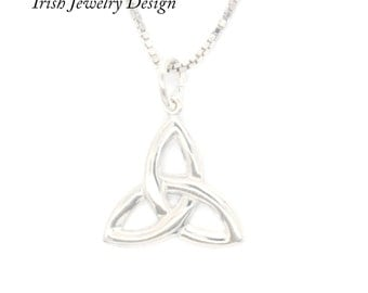 Celtic necklace, silver Irish celtic necklace.