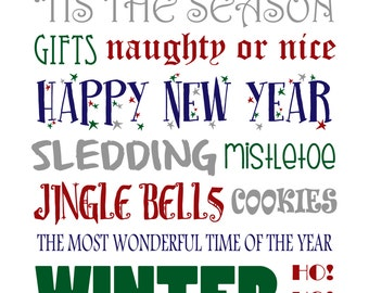 Winter Word Art Print