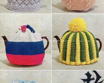 Six Tea Cosies, PDF Vintage Knitting Pattern No. 6196