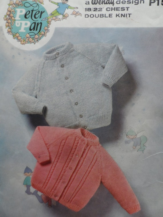 Peter Pan Baby Knitting Patterns : Items similar to Baby Cardigans, Digital Download A4 PDF, Reproduced Vintage ...