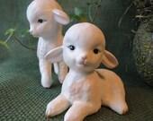 Sweet Pair of Vintage Lefton Lambs Lefton Japan Figurines