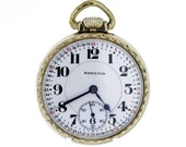 10K Rolled Gold Plated Hamilton Pocket Watch Handengraved Gold 21 Jewel 992 Double Roller
