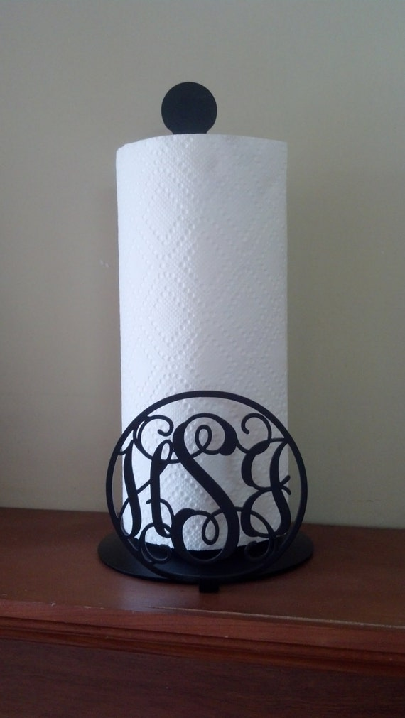 Monogrammed Metal Paper Towel Holder