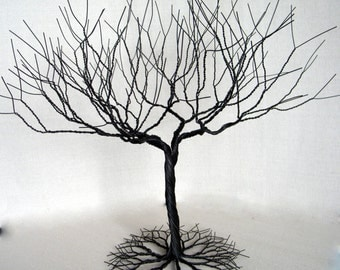 20in Superdense Black Jewelry Tree Stand Display. Wire Tree Sculpture .Decor Wedding. holder stand , display. #9