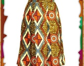 Ava African Print Medi Length Skirt - African Clothing