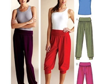 Sewing Pattern - Womens Pattern for Yoga Pant Pattern, Two Views and Top Pattern - Kwik Sew #K3835