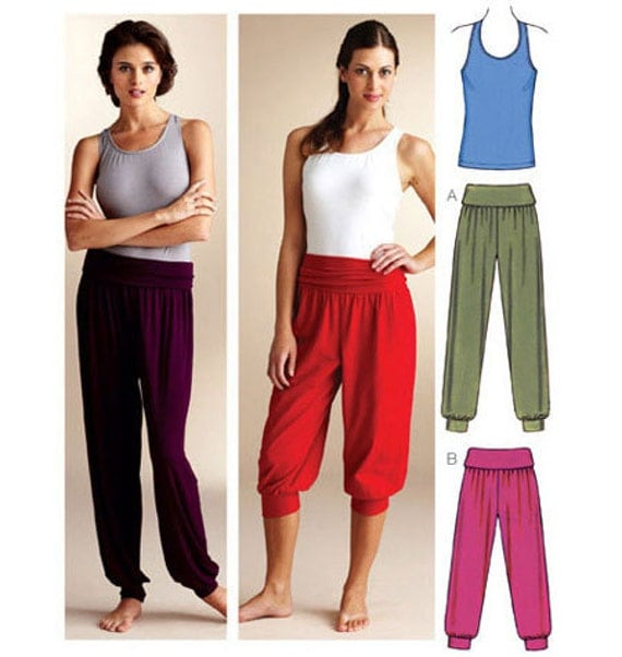 Sewing Pattern Womens Pattern For Yoga Pant Pattern Two