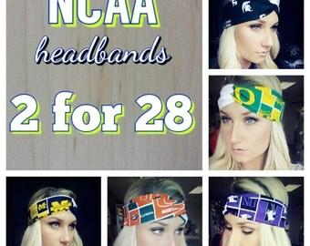 NCAA  twist headbands 2 for 28