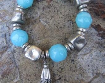 Bracelets For Women,Boho Stretch Bracelet,Bohemian Jewelry,Ethnic Hippie Tribal Bracelet,Beaded Bracelet,Stretch Bracelet,Gifts For Her
