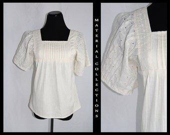 Vintage 60s Floral Eyelet Shirt:  Material Collections