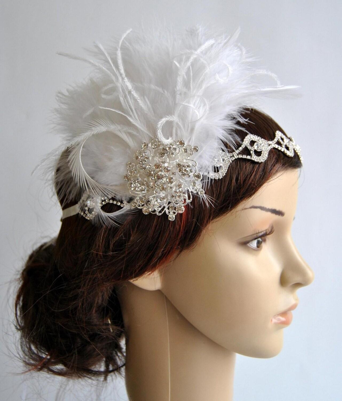Flapper Headpiece: Rhinestone Flapper 1920s Headpiece Rhinestone Headband