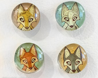Little Fox Magnets ||  (Set of 4)