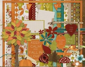 Fall for Me, digital scrapbook kit