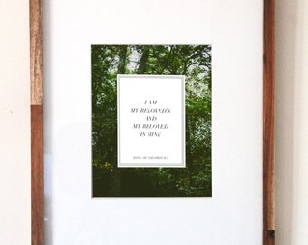 8x10 / Song of Solomon Print
