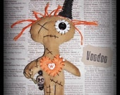 Primitive Grungy Folk Art Whimsy Doll Halloween Witch VooDoo Doll Art Doll #4  ~Witch Is Why