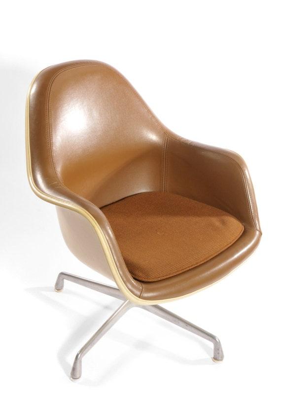 Herman Miller High Back Caramel Brown Loose Cushion Fiberglass