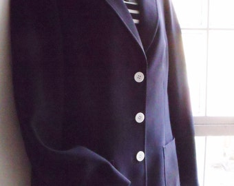 Vintage UK16 US12 Eur44 Marks & Spencer navy blazer