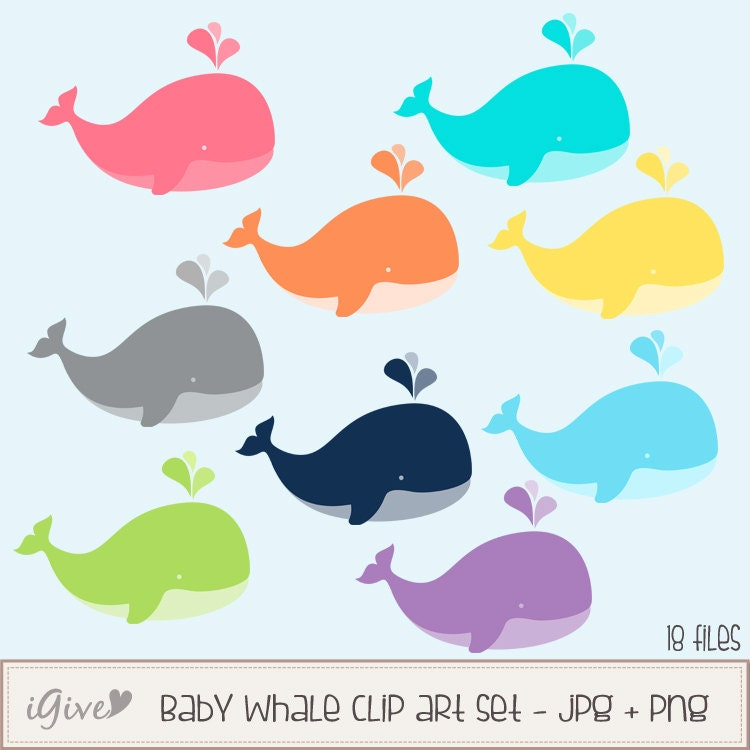 clipart baby shower whale - photo #26
