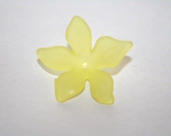 Lucite Yellow Flower Bead - 8x29mm - 10ct - #134