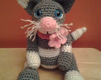 GRACIE the Kitty Cat = Crochet Amigurumi - Crochet Kitten - Handmade Crochet Amigurumi - Amigurumi Cat