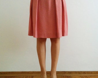 50s retro pleated cotton skirt