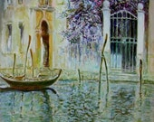 "Art Venice Print of Original Watercolor Painting 9"" x 13""  Wedding Art -  Wall decor"