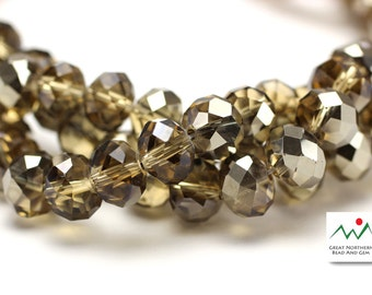 Crystal Rondelle,8MM X 10MM,Rondelle Shaped Crystal,Chinese Crystal, Full Strand #CRY061906