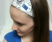 White Swirl TARDIS Ultra Comfort Headband