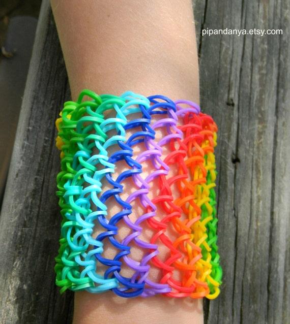 Loom Band Rainbow Bracelet Dragon Scale Bracelet Rainbow