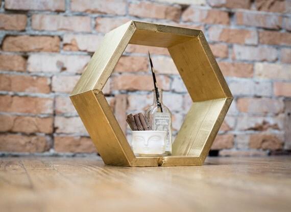 The Honeycomb Shelf: shelving unit in Pyrite