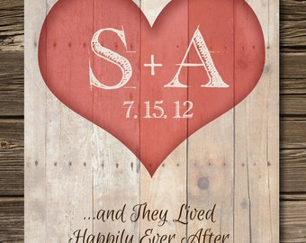 Wedding 1st Anniversary Gift, Heart Tree Initials Print, Wedding Gift for Couple, Couples Print, Personalized Poster on the paper 8'5 x 11