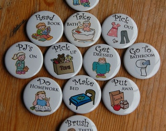 "1.5"" Size - Pick 50 OR MORE - Chore Chart Magnets"