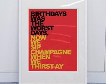 Rap Quote Art Print- Notorious BIG- Juicy *11 x 14