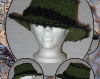 Knit hat and felt