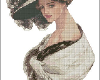 "Cross stitch pattern PDF ""Courting Attention"""