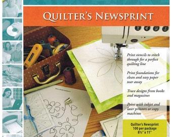 100 Pack EQ Printables Quilter's Newsprint Sheets sku9105