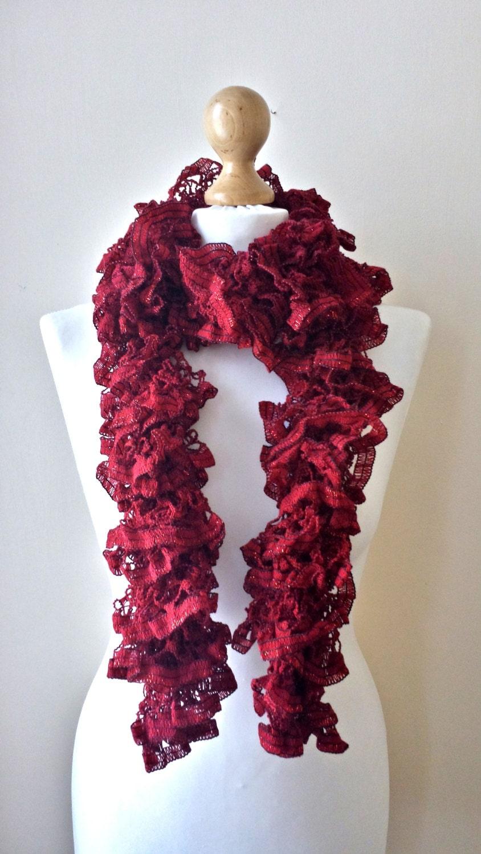 knit scarf ruffle scarf shawl neckwarmer scarf