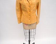 vintage leather jacket custom made 1970s six pocket gandalf east west style