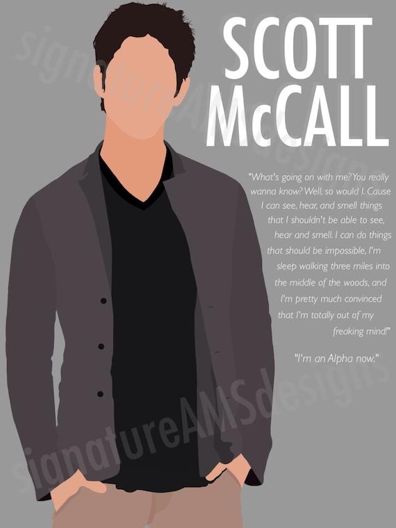 Minimalist Digital Artwork of TEEN WOLF CHARACTER - Scott McCall. ( 11.7x16.5 inches / A3 )