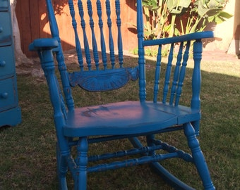 Shabby Chic Wooden Rocking Chair