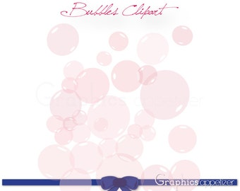 Digital Clip Art Pink Bubbles - Clusters and Single Bubbles, Personal and Commercial Use, INSTANT DOWNLOAD