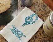 Sailors' Knots Tea Towel - Screen Printed Flour Sack Towel
