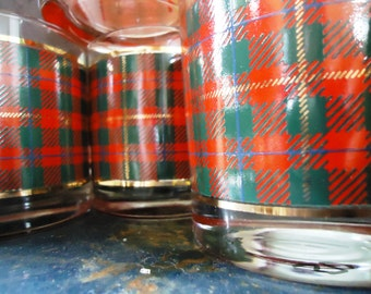 Vintage 1950-60s Crowning Touch Scotch Plaid Glasses - in original box