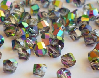 Vintage Swarovski Crystal Beads, Article 38 Also Known As Article 5006, 7mm Crystal Beads, 20 Vintage Crystal Beads