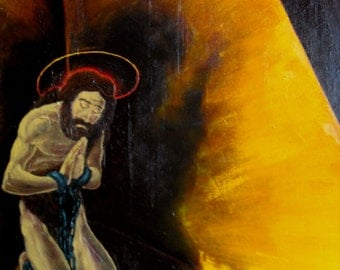 Original Oil Painting - The Imprisonment of John The Baptist  - Modern Christian Art - Religious Painting - Religious Art- Home Decor Faith