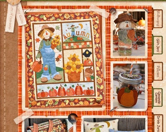 Happy Harvest Fall Quilt Project Book- 21 full-color pages