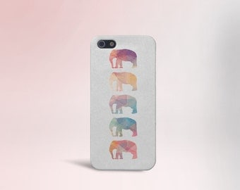 Geometric Elephants Case, Animals iPhone 7, iPhone 7 Plus, Protective iPhone Case, Galaxy s8, Samsung Galaxy Case Note 5, CASE ESCAPE