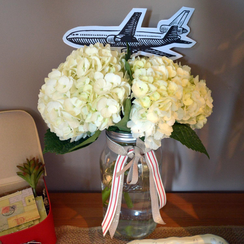 DIY Vintage Airplane Picks For Floral Arrangements Or Cake