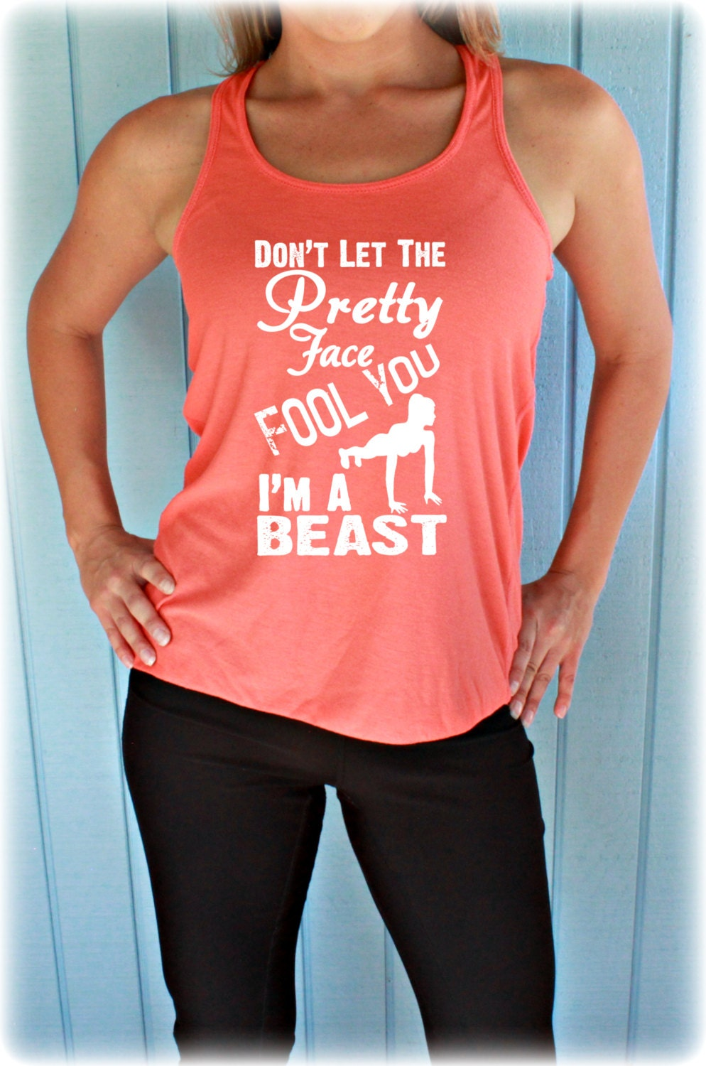Flowy Workout Tank Top Womens Workout Shirt Don 39 T Let